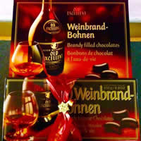 Weinbrand Bohnen brandy-filled imported chocolates